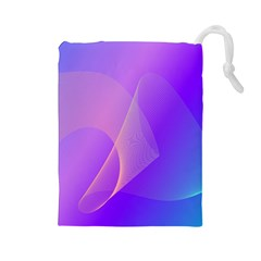 Vector Blend Screen Saver Colorful Drawstring Pouches (large)