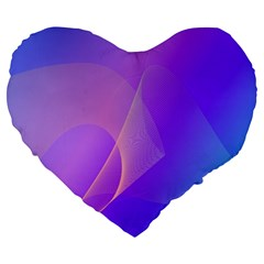 Vector Blend Screen Saver Colorful Large 19  Premium Flano Heart Shape Cushions
