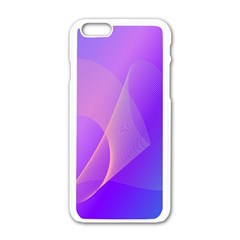 Vector Blend Screen Saver Colorful Apple iPhone 6/6S White Enamel Case