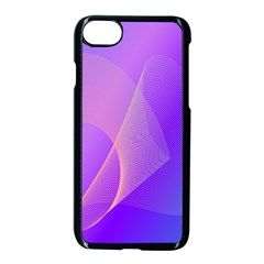 Vector Blend Screen Saver Colorful Apple Iphone 7 Seamless Case (black)