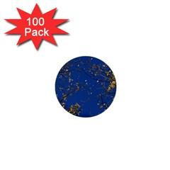Poplar Foliage Yellow Sky Blue 1  Mini Buttons (100 pack)
