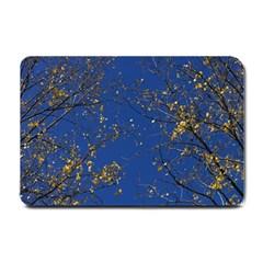 Poplar Foliage Yellow Sky Blue Small Doormat