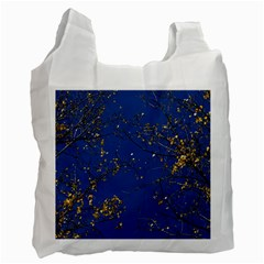 Poplar Foliage Yellow Sky Blue Recycle Bag (one Side)