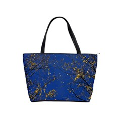 Poplar Foliage Yellow Sky Blue Shoulder Handbags