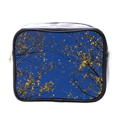 Poplar Foliage Yellow Sky Blue Mini Toiletries Bags
