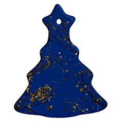 Poplar Foliage Yellow Sky Blue Christmas Tree Ornament (2 Sides)