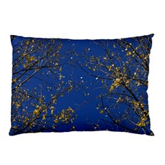 Poplar Foliage Yellow Sky Blue Pillow Case (two Sides)