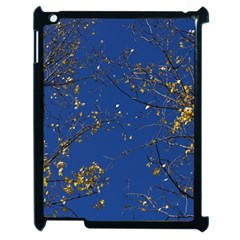 Poplar Foliage Yellow Sky Blue Apple Ipad 2 Case (black)