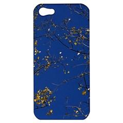 Poplar Foliage Yellow Sky Blue Apple Iphone 5 Hardshell Case