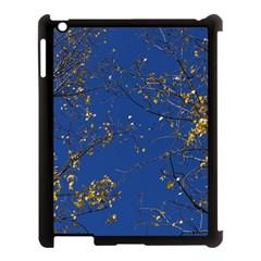 Poplar Foliage Yellow Sky Blue Apple Ipad 3/4 Case (black)