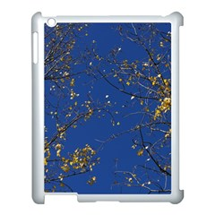Poplar Foliage Yellow Sky Blue Apple Ipad 3/4 Case (white)