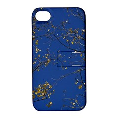 Poplar Foliage Yellow Sky Blue Apple Iphone 4/4s Hardshell Case With Stand