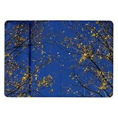 Poplar Foliage Yellow Sky Blue Samsung Galaxy Tab 10 1  P7500 Flip Case