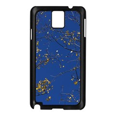 Poplar Foliage Yellow Sky Blue Samsung Galaxy Note 3 N9005 Case (black)