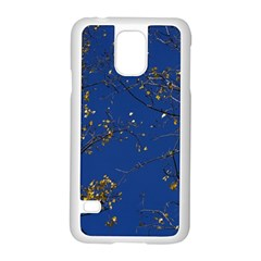 Poplar Foliage Yellow Sky Blue Samsung Galaxy S5 Case (white)