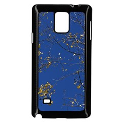 Poplar Foliage Yellow Sky Blue Samsung Galaxy Note 4 Case (black)