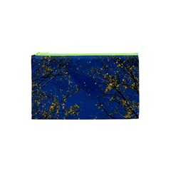 Poplar Foliage Yellow Sky Blue Cosmetic Bag (xs)