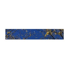 Poplar Foliage Yellow Sky Blue Flano Scarf (Mini)
