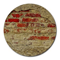 Wall Plaster Background Facade Round Mousepads