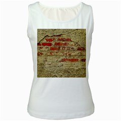 Wall Plaster Background Facade Women s White Tank Top