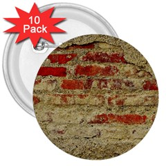 Wall Plaster Background Facade 3  Buttons (10 Pack)