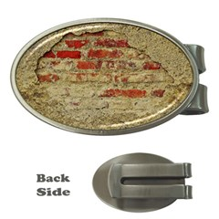 Wall Plaster Background Facade Money Clips (oval)