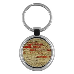 Wall Plaster Background Facade Key Chains (round)