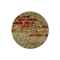 Wall Plaster Background Facade Rubber Coaster (Round)