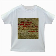 Wall Plaster Background Facade Kids White T Shirts