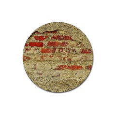 Wall Plaster Background Facade Magnet 3  (round)