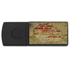 Wall Plaster Background Facade Usb Flash Drive Rectangular (4 Gb)