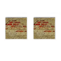 Wall Plaster Background Facade Cufflinks (square)