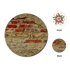 Wall Plaster Background Facade Playing Cards (round)