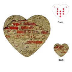 Wall Plaster Background Facade Playing Cards (heart)