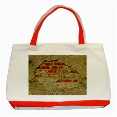Wall Plaster Background Facade Classic Tote Bag (red)