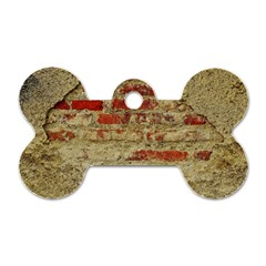 Wall Plaster Background Facade Dog Tag Bone (one Side)