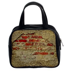 Wall Plaster Background Facade Classic Handbags (2 Sides)