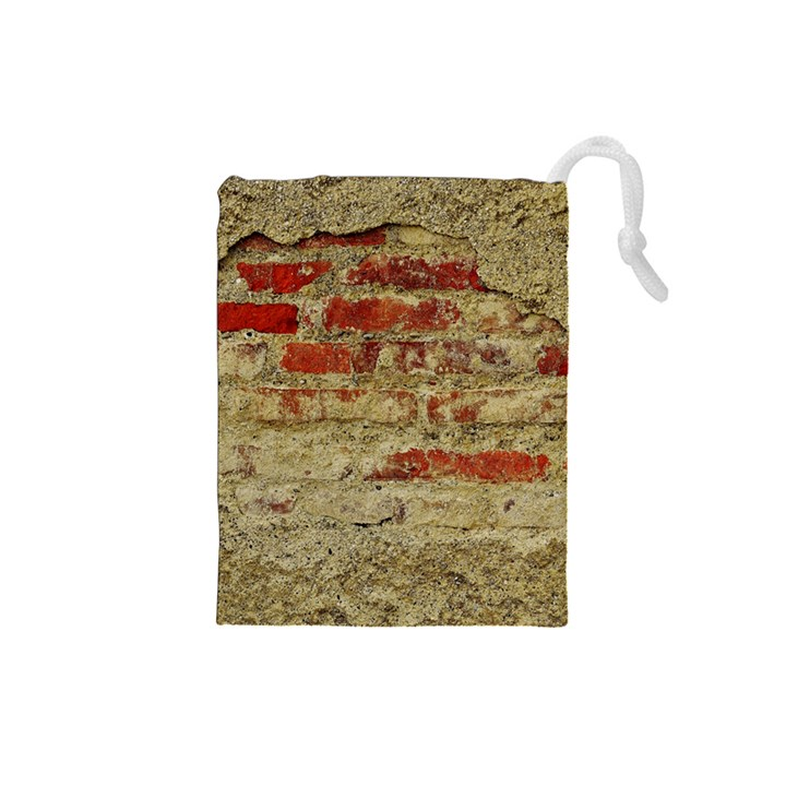 Wall Plaster Background Facade Drawstring Pouches (Small)