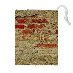 Wall Plaster Background Facade Drawstring Pouches (extra Large)