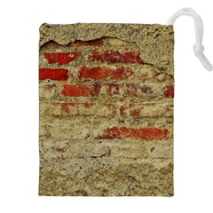 Wall Plaster Background Facade Drawstring Pouches (xxl)