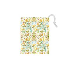 Cute small colorful flower  Drawstring Pouches (XS)