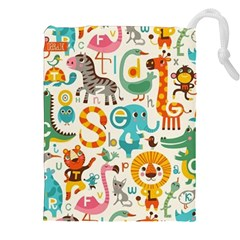 Lovely small cartoon animals Drawstring Pouches (XXL)