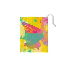 Colorful Paint brush  Drawstring Pouches (XS)