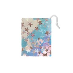 Pastel colored stars  Drawstring Pouches (XS)