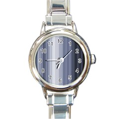 Gray Line Round Italian Charm Watch