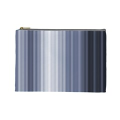 Gray Line Cosmetic Bag (large)