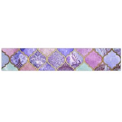 Blue Moroccan Mosaic Flano Scarf (large)