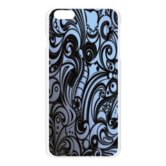 Gray Batik Blue Apple Seamless iPhone 6 Plus/6S Plus Case (Transparent)
