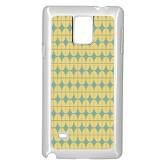 Green Yellow Samsung Galaxy Note 4 Case (white)