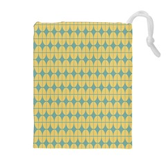 Green Yellow Drawstring Pouches (Extra Large)